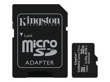 Canvas Select Plus - Flash-Speicherkarte (microSDHC/SD-Adapter inbegriffen) - 32 GB - A1 / Video Class V10 / UHS Class 1 / Class10 - microSDHC UHS-I