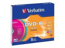 Colours - 5 x DVD-R - 4.7 GB 16x