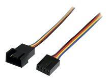 .com 30cm 4 Pin Molex Lüfter Verlängerungskabel - St/Bu - 4 Pin PWM Lüfterkabel Verlängerung - Verlängerungskabel für Lüfterspannungsversorgung - 4-polig PWM (M) bis 4-polig PWM (W) - 3 m