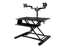 .com Dual Monitor Sit Stand Desk Converter - 35in Wide Work Surface - Stehender Tischwandler - rechteckig - Schwarz