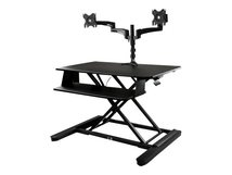 ".com Dual Monitor Sit Stand Desk Converter - Up to 24"" Monitors - 35"" Wide Work Surface - Height Adjustable Standing Desk (BNDSTSLGDUAL) - Stehender Tischwandler - rechteckig"