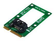 .com mSATA auf SATA Festplatten / SSD Adapter - Mini Serial-ATA zu SATA Konverter - Festplatten Adapter / Konverter - Speicher-Controller - 1 Sender/Kanal - mSATA