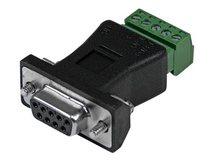 .com RS422 RS485 Seriell DB9 auf Klemmleiste - Serieller Adapter - 5-poliger Anschlussblock bis DB-9 (M) - Schwarz - für P/N: PCI2S232485I, PCI2S4851050