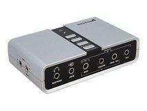 .com USB 2.0 Soundbox 7.1 Adapter - externe USB Soundkarte mit SPDIF Didital Audio - External Soundcard mit 8x 3,5mm Buchse - Soundkarte - 48 kHz - 7.1
