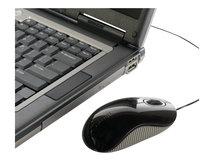 Cord-Storing - Maus - optisch - kabelgebunden - USB - Grau, Schwarz