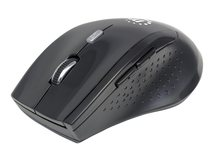 Curve Wireless Mouse, Black, Adjustable DPI (800, 1200 or 1600dpi), 2.4Ghz (up to 10m), USB, Optical, Five Button with Scroll Wheel, USB micro receiver, 2x AAA batteries (included), Full size, Low friction base, Three Year Warranty, Blister - Maus - optisch - 6 Tasten - kabellos - 2.4 GHz