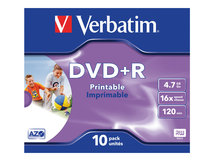 DataLifePlus - 10 x DVD+R - 4.7 GB 16x - mit Tintenstrahldrucker bedruckbare Oberfläche - Jewel Case (Schachtel)