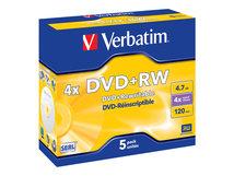 DataLifePlus - 5 x DVD+RW - 4.7 GB 4x - Jewel Case (Schachtel)