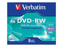 DataLifePlus - 5 x DVD-RW - 4.7 GB 4x - Jewel Case (Schachtel)