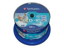DataLifePlus - 50 x CD-R - 700 MB 52x - breite bedruckbare Oberfläche - Spindel