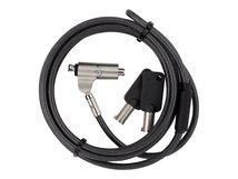 Defcon N-KL Mini Keyed Cable Lock - Sicherheitskabelschloss - Schwarz, Silber - 1.8 m