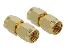 DeLOCK 10 GHz - Antennenadapter - SMA (M) bis SMA (M) - Gold
