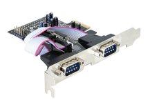 DeLOCK 4 x serial PCI Express Card - Serieller Adapter - PCIe - RS-232 - 4 Anschlüsse