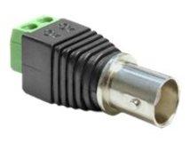 Delock Adapter BNC female > Terminal Block - Videoadapter - composite video - 2-polige Klemmleiste weiblich bis BNC weiblich