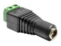 DeLOCK Adapter DC 2.1 x 5.5 mm female > Terminal Block - Netzteil - 2-polige Klemmleiste (W) bis Gleichstromstecker 2,1 mm (W)