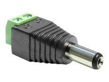 DeLOCK Adapter DC 2.1 x 5.5 mm male > Terminal Block - Netzteil - 2-polige Klemmleiste (M) bis Gleichstromstecker 2,1 mm (M)
