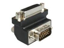 DeLOCK Adapter DVI 24+5 female / VGA 15 pin male 90°angled - VGA-Adapter - HD-15 (VGA) (M) bis DVI-I (W) - 90° Stecker, Daumenschrauben