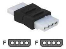 Delock - Adapter für Power Connector - interne Stromversorgung, 4-polig (W) bis interne Stromversorgung, 4-polig (W)