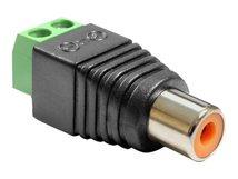 Delock Adapter RCA female > Terminal Block - Video- / Audio-Adapter - Component Video / Audio - 2-polige Klemmleiste weiblich bis RCA weiblich