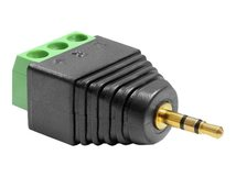DeLOCK Adapter Stereo jack male 2.5 mm > Terminal Block - Audio-Adapter - 3-poliger Anschlussblock (M) bis Stereo Mikro-Stecker (M)