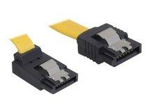 DeLOCK Cable SATA - SATA-Kabel - Serial ATA 150/300/600 - SATA (W) bis SATA (W) - 10 cm - eingerastet, nach oben gewinkelter Stecker, gerader Stecker