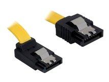 DeLOCK Cable SATA - SATA-Kabel - Serial ATA 150/300 - SATA (W) bis SATA (W) - 30 cm - eingerastet, nach oben gewinkelter Stecker, gerader Stecker