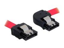 DeLOCK Cable SATA - SATA-Kabel - Serial ATA 150/300 - SATA (W) bis SATA (W) - 30 cm - eingerastet, rechts-gewinkelter Stecker, gerader Stecker