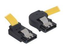 DeLOCK Cable SATA - SATA-Kabel - Serial ATA 150/300 - SATA (W) bis SATA (W) - 30 cm - eingerastet, rechts-gewinkelter Stecker, nach oben gewinkelter Stecker
