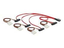 DeLOCK - Internes SAS-Kabel - 4-Lane - 36 PIN 4iMini MultiLane (M) bis interne Stromversorgung, 4-polig, interne SAS, 29-polig (SFF-8482) - 50 cm