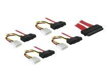 DeLOCK - Internes SAS-Kabel - 4-Lane - 4i MultiLane, 32-polig (W) bis interne Stromversorgung, 4-polig, 4i MultiLane, 32-polig - 50 cm