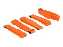 Delock - Klettverschluss - 30 cm - orange (Packung mit 5)
