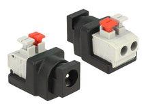 DeLOCK - Netzteil - 2-polige Klemmleiste (W) bis Gleichstromstecker 5,5 x 2,1 mm (W)