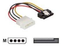 DeLOCK - Netzteil - SATA-Stromstecker (M) bis interne Stromversorgung, 4-polig (M) - 12 cm