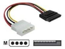 DeLOCK - Netzteil - SATA-Stromstecker (M) bis interne Stromversorgung, 4-polig (M) - 6 cm