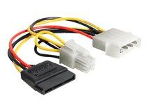 DeLOCK - Netzteil - SATA-Stromstecker, Netzstecker P4 bis interne Stromversorgung, 4-polig (M) - 15.5 cm