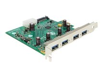 DeLOCK PCI Express Card > 4 x USB 3.0 - Speicher/USB3.0-Controller - USB 3.0 - 5 GBps - PCIe 2.1 x1