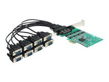 DeLOCK PCI Express Card > 8 x Serial RS-232 - Serieller Adapter - PCIe - RS-232 x 8
