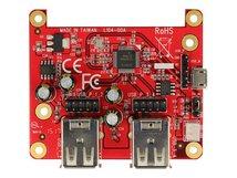 DeLOCK Raspberry Pi USB Micro-B female / USB pin header > 4 x USB type A female - Hub - 4 x USB 2.0 - Desktop