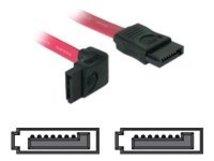 DeLOCK - SATA-Kabel - Serial ATA 150/300 - SATA (W) bis SATA (W) - 22 cm - nach oben gewinkelter Stecker, gerader Stecker