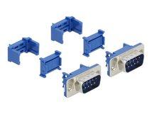DeLOCK - Serieller Anschluss - DB-9 (M) - Blau (Packung mit 2)