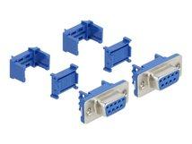 DeLOCK - Serieller Anschluss - DB-9 (W) - Blau (Packung mit 2)