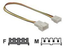 Delock - Stromkabel - 4-Pin-Mini-Stromversorgungsstecker (M) bis 4-Pin-Mini-Stromversorgungsstecker (W) - 20 cm