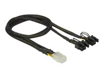 DeLOCK - Stromkabel - 6-poliges PCIe Power (W) bis 8-poliger PCIe Power (6+2) (M) - 30 cm - Schwarz