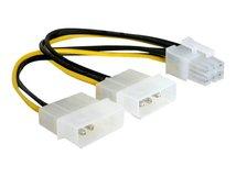 DeLOCK - Stromkabel - 6-poliges PCIe Power (W) bis interne Stromversorgung, 4-polig (M) - 15 cm