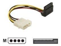 DeLOCK - Stromkabel - SATA-Stromstecker (M) bis interne Stromversorgung, 4-polig (M) - 16 cm - 90° Stecker