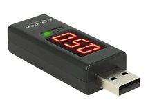 DeLOCK - USB-Spannungs- und Stromprüfer - Schwarz