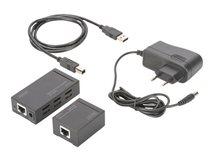 DIGITUS DA-70142 Transmitter and Receiver Units - USB-Erweiterung - USB, USB 2.0 - bis zu 100 m