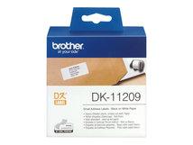 DK-11209 - Schwarz auf Weiß - 800) Adressetiketten - für Brother QL-1050, 1060, 500, 550, 560, 570, 580, 600, 650, 700, 710, 720, 820