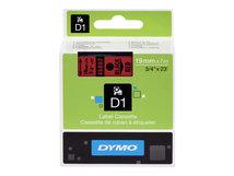 DYMO D1 - Glänzend - schwarz auf rot - Rolle (1,9 cm x 7 m) 1 Rolle(n) Band - für LabelMANAGER 360, 400, 420, 450, 500, PC, PC2, Wireless PnP; LabelPOINT 300, 350
