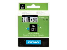 DYMO D1 - Glänzend - Schwarz auf Weiß - Rolle (2,4 cm x 7 m) 1 Rolle(n) Band - für LabelMANAGER 450, 450D, 500TS, PC, PC2, Wireless PnP; DYMO LabelWriter 450 Duo